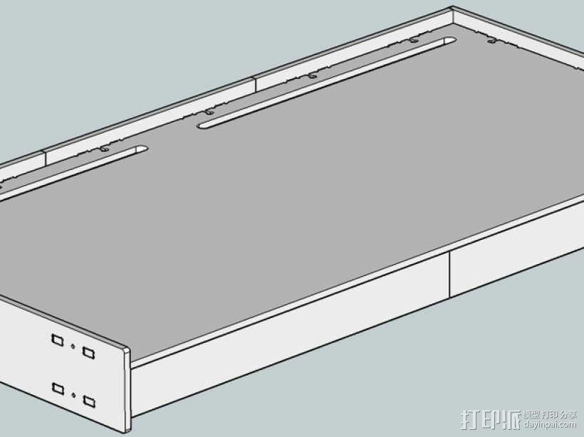 数控切割可调节高度的桌子 3D模型  图3