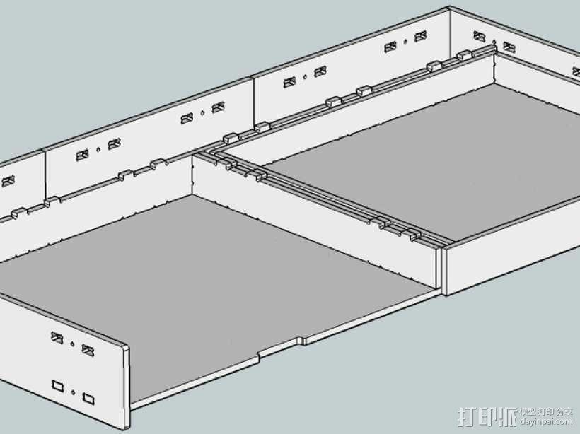 数控切割可调节高度的桌子 3D模型  图4