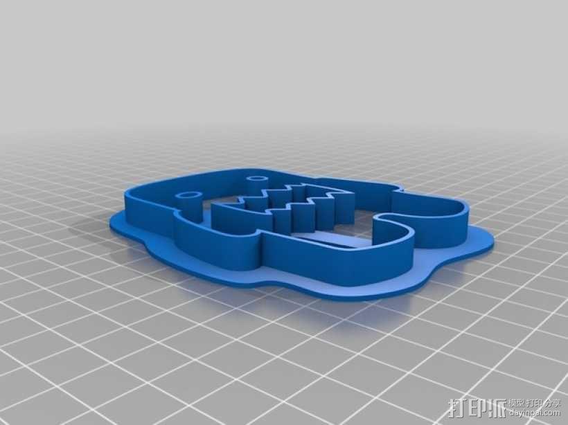 多摩君饼干模具切割刀 3D模型  图3