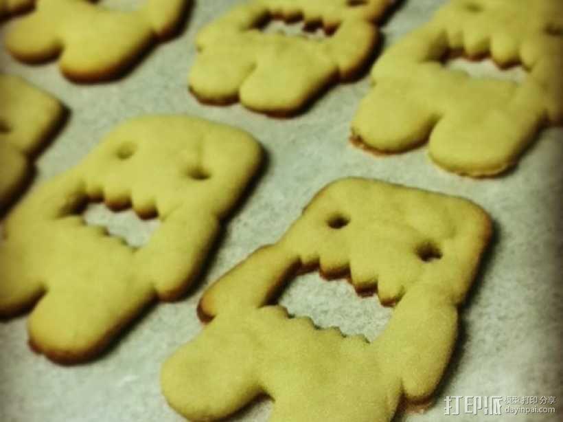 多摩君饼干模具切割刀 3D模型  图1
