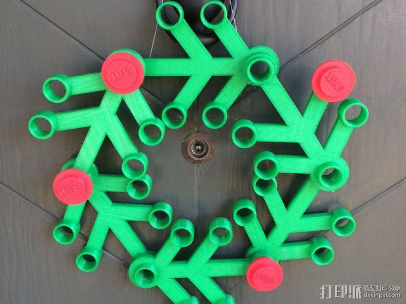 乐高圣诞花环 3D模型  图1