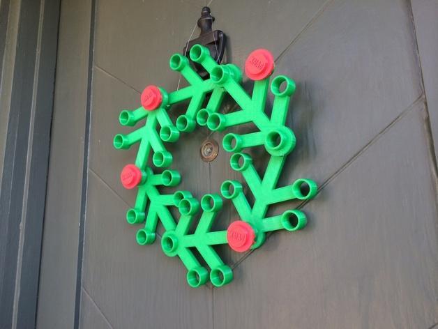 乐高圣诞花环 3D模型  图2