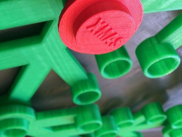 乐高圣诞花环 3D模型  图3