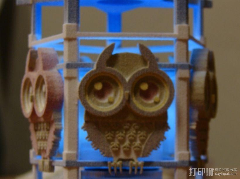 猫头鹰形小夜灯 3D模型  图1