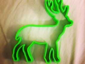 圣诞驯鹿饼干模具切割刀 3D模型