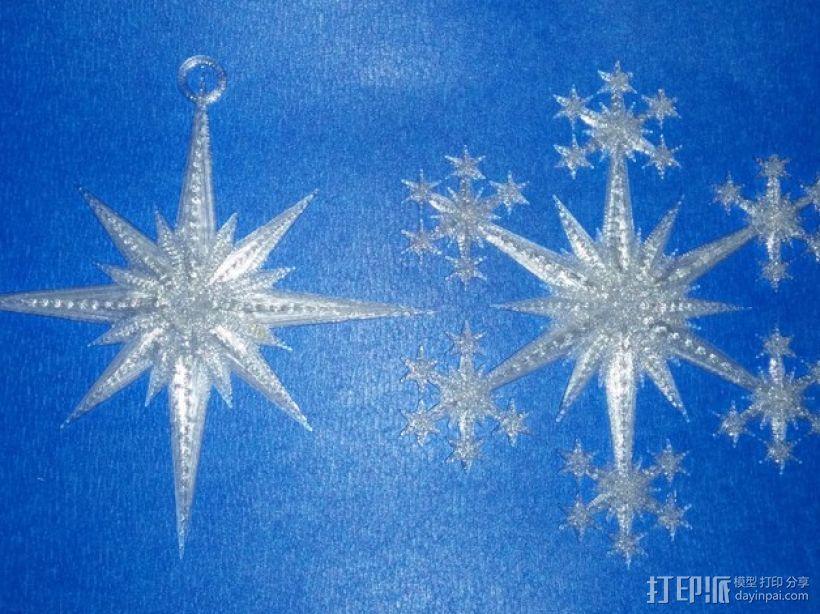 星形/雪花形装饰品 3D模型  图1