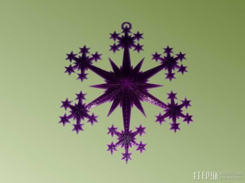 星形/雪花形装饰品 3D模型  图2