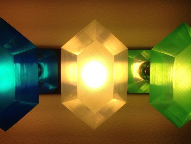 定制化卢比灯罩 3D模型  图1