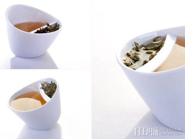 带有角度的茶壶 3D模型  图1