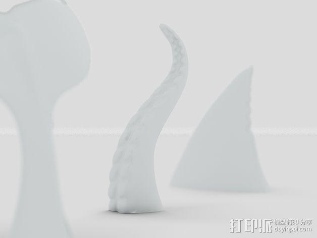 海底动物冰箱磁铁 3D模型  图2