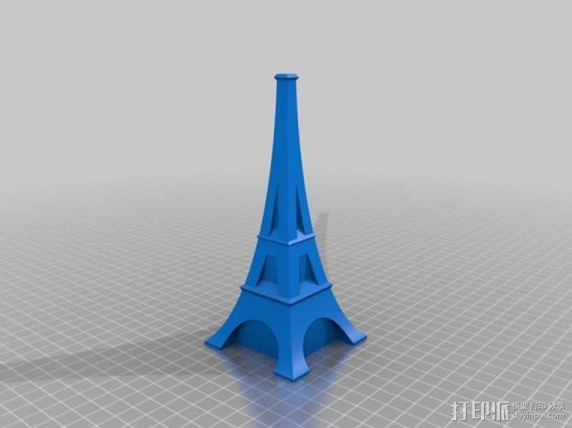 艾菲尔铁塔花瓶 3D模型  图2