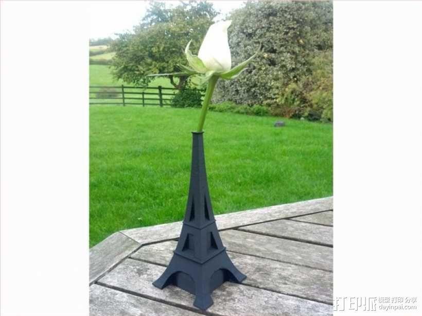 艾菲尔铁塔花瓶 3D模型  图1