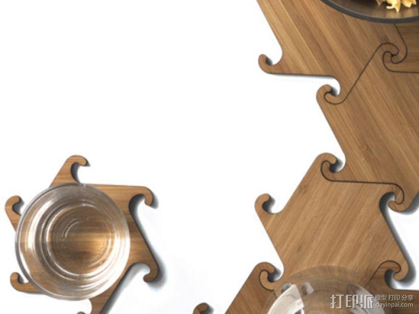 联锁杯垫 3D模型  图2