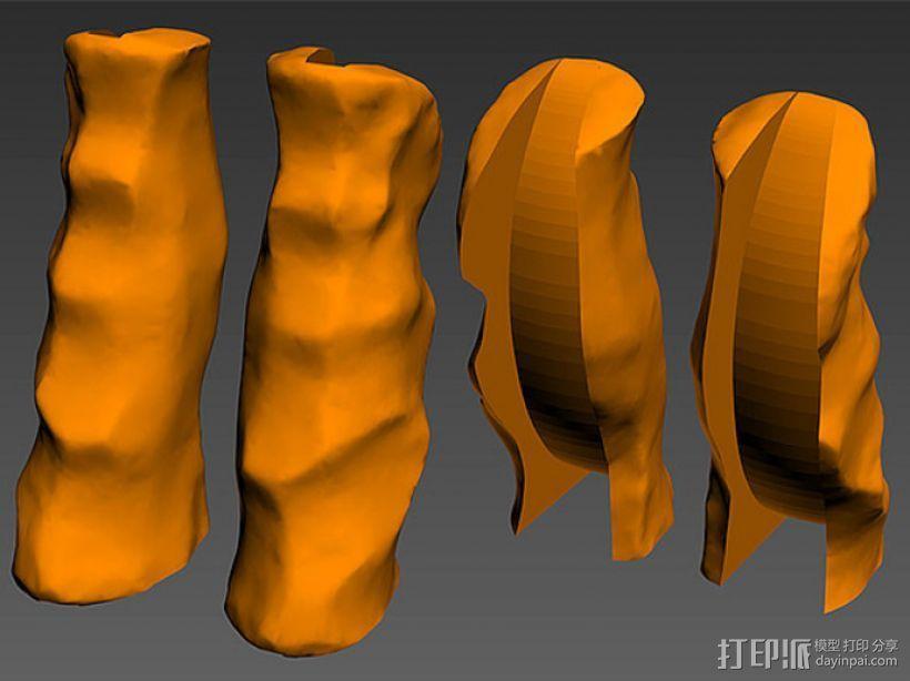 购物袋手柄 3D模型  图4