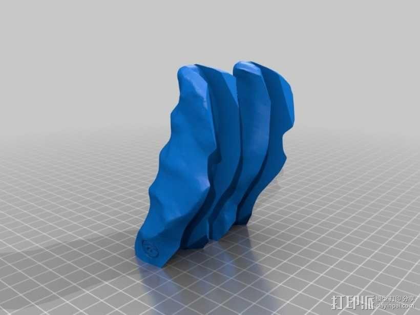 购物袋手柄 3D模型  图5