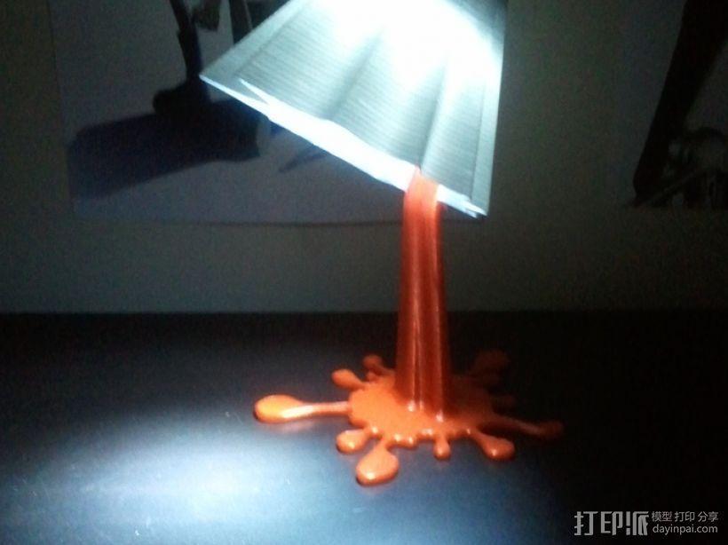 红色血液灯罩 3D模型  图2