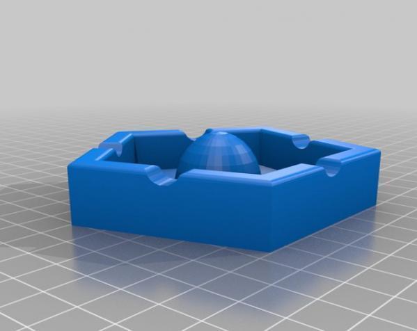 五边形烟灰缸 3D模型  图2