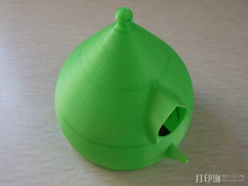 水珠形鸟笼 3D模型  图1