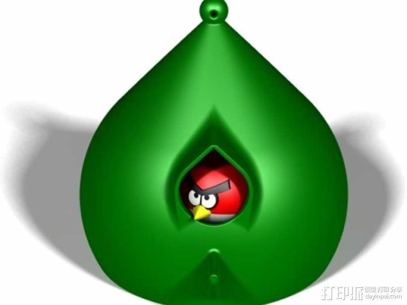 水珠形鸟笼 3D模型  图6