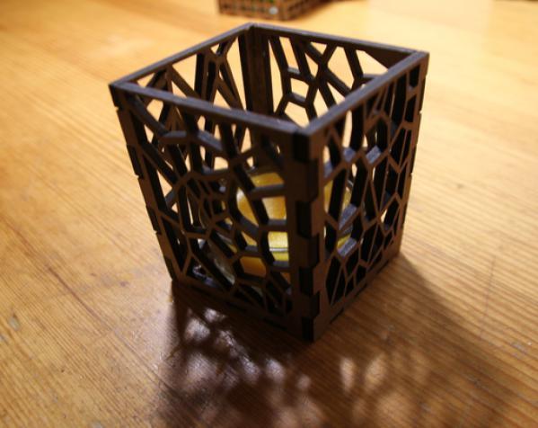 激光切割方形烛台 3D模型  图4