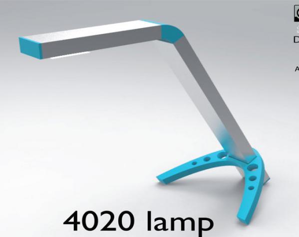 4020 DIY台灯 3D模型  图1