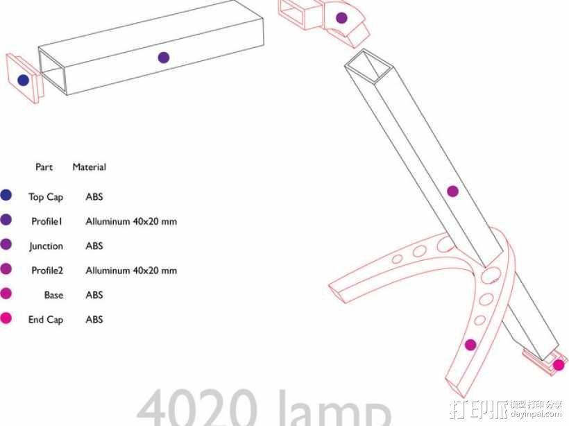 4020 DIY台灯 3D模型  图5
