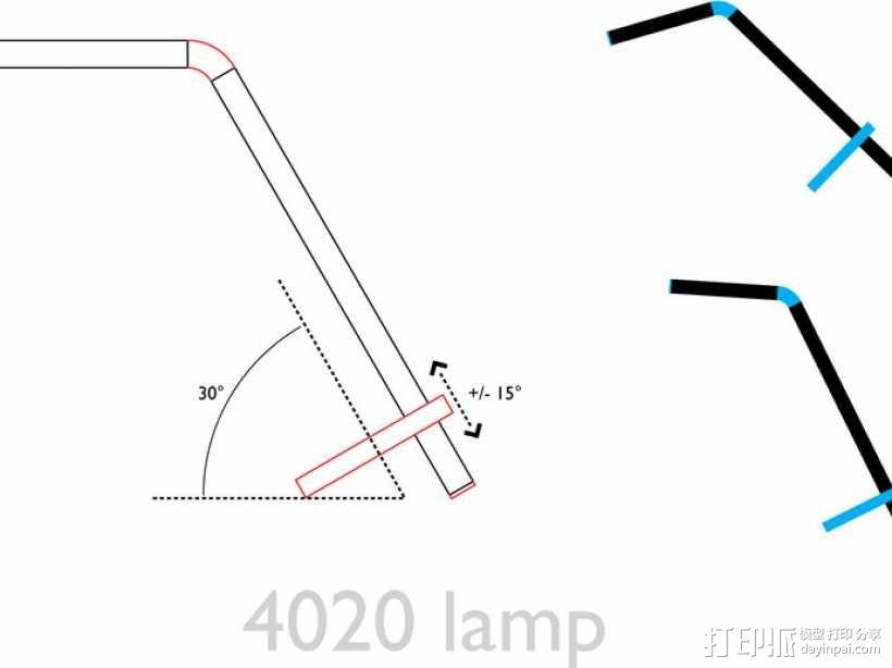 4020 DIY台灯 3D模型  图7