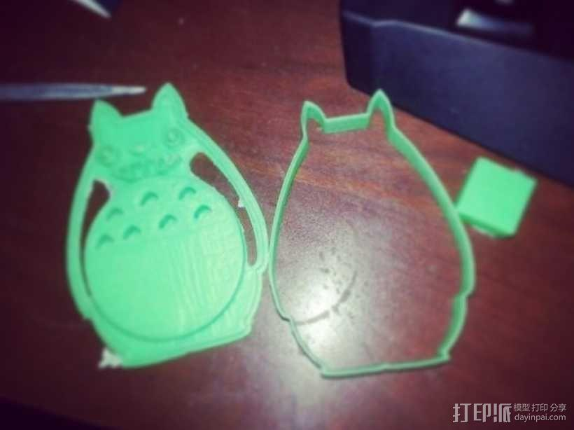 龙猫饼干模具切割刀 3D模型  图2