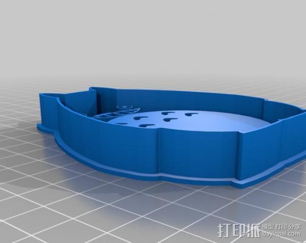 龙猫饼干模具切割刀 3D模型  图1