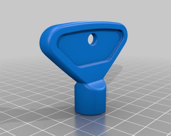 室外水龙头钥匙 3D模型  图2