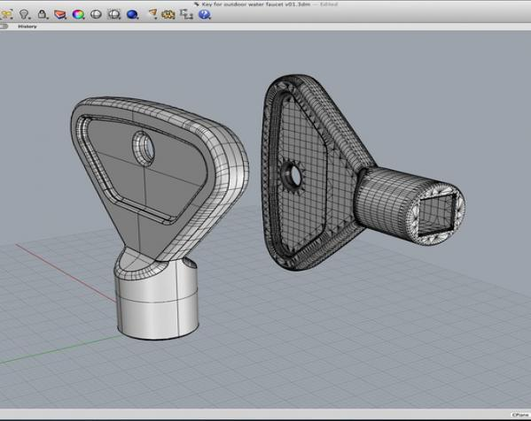 室外水龙头钥匙 3D模型  图4