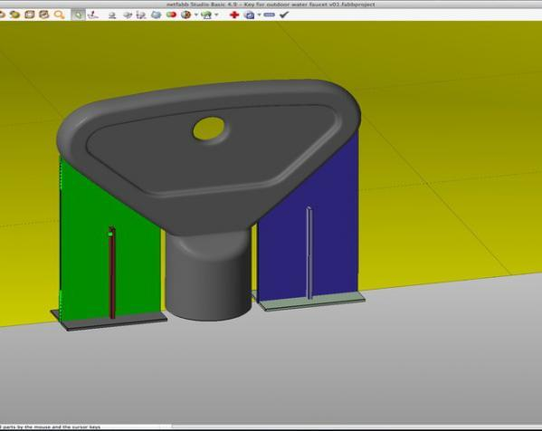 室外水龙头钥匙 3D模型  图5