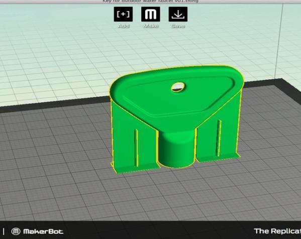 室外水龙头钥匙 3D模型  图6