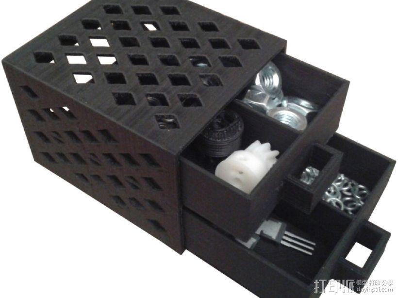 参数化抽屉/储物柜 3D模型  图1