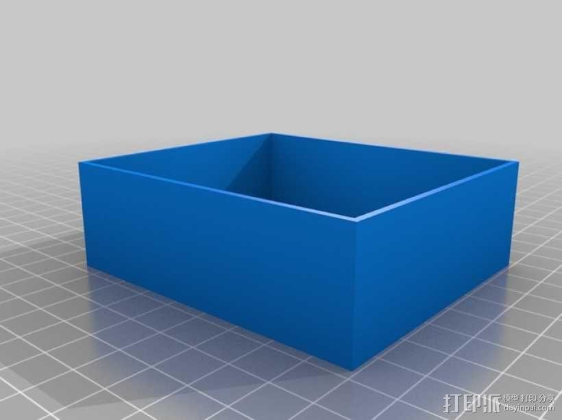 参数化抽屉/储物柜 3D模型  图2