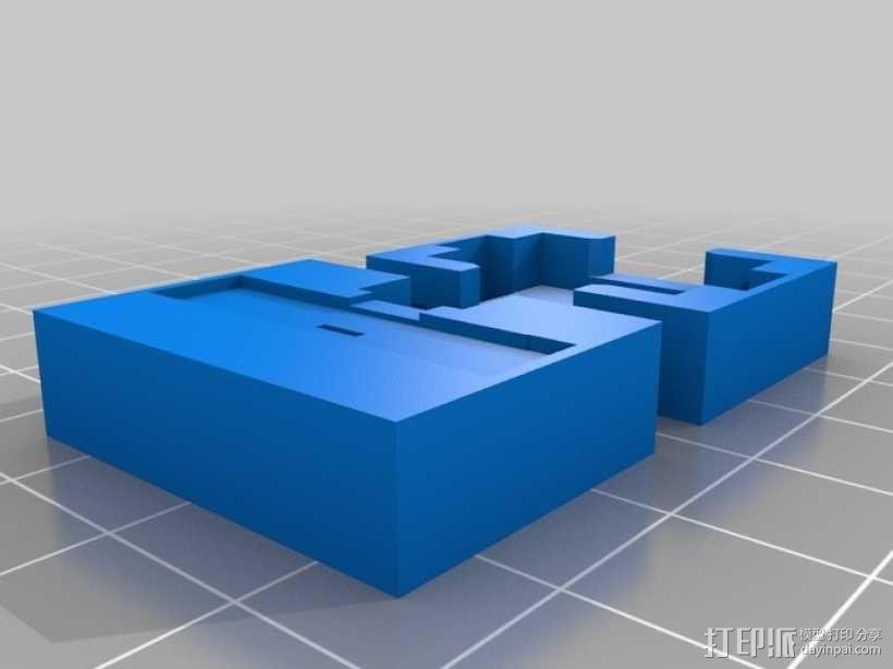 模块一体化LED灯 3D模型  图1