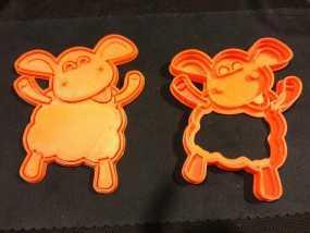 小小羊提米饼干模具切割刀 3D模型