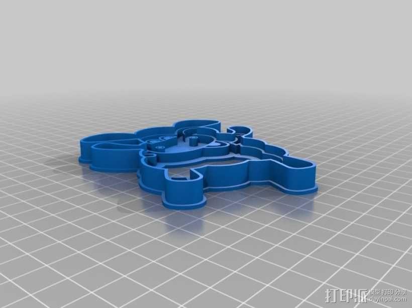 小小羊提米饼干模具切割刀 3D模型  图3