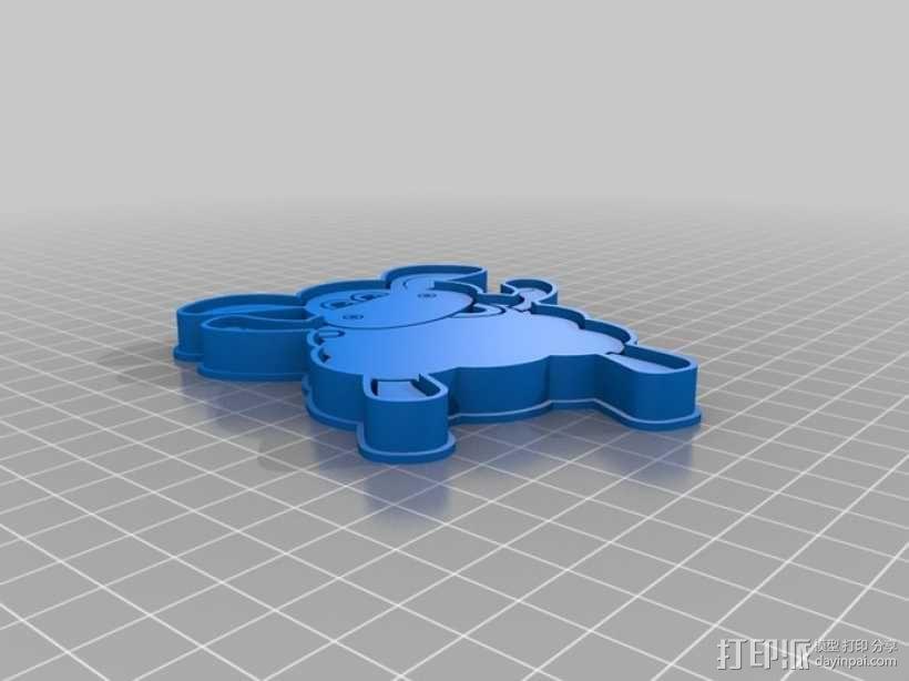 小小羊提米饼干模具切割刀 3D模型  图4