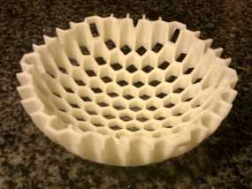 蜂巢形碗状装饰物 3D模型