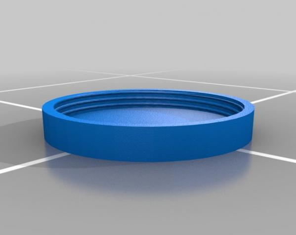 有螺纹口的圆形小盒 3D模型  图1