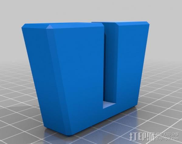 银制餐具收纳盒 3D模型  图1