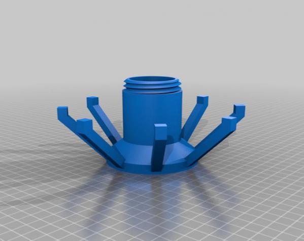 玻璃瓶晾干架 3D模型  图2