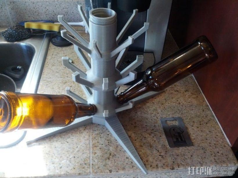 玻璃瓶晾干架 3D模型  图4