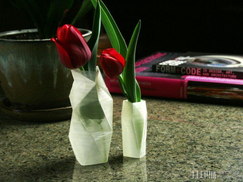 个性化波形曲线花瓶 3D模型  图1