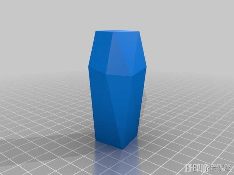 个性化波形曲线花瓶 3D模型  图2