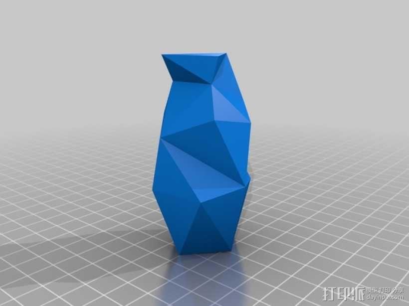 个性化波形曲线花瓶 3D模型  图3