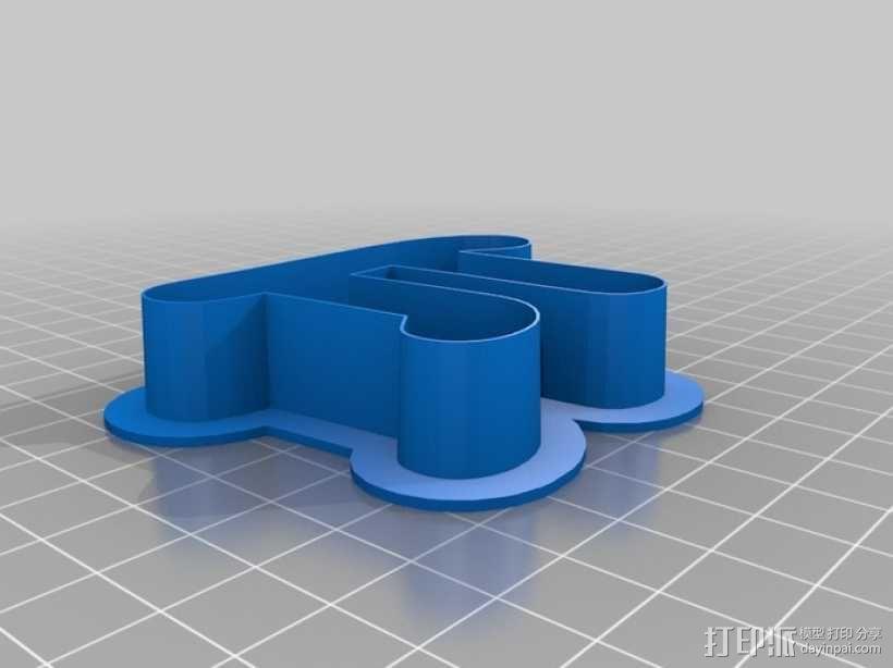 圆周率π饼干模具切割刀 3D模型  图1