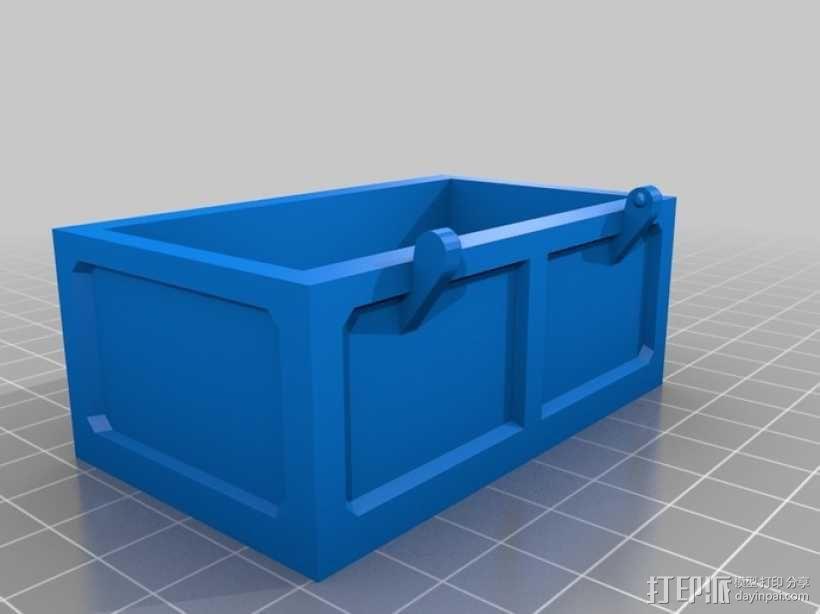 迷你铰链式藏宝箱 3D模型  图3