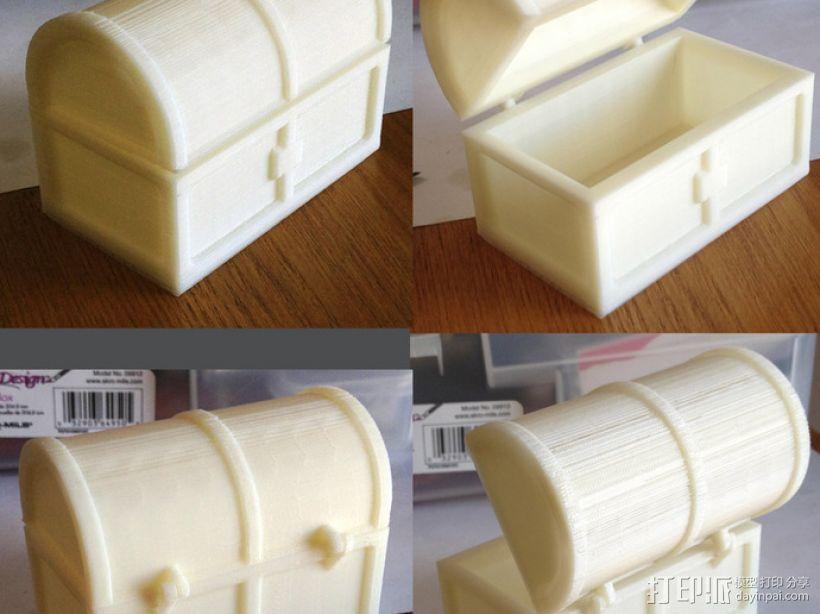 迷你铰链式藏宝箱 3D模型  图2